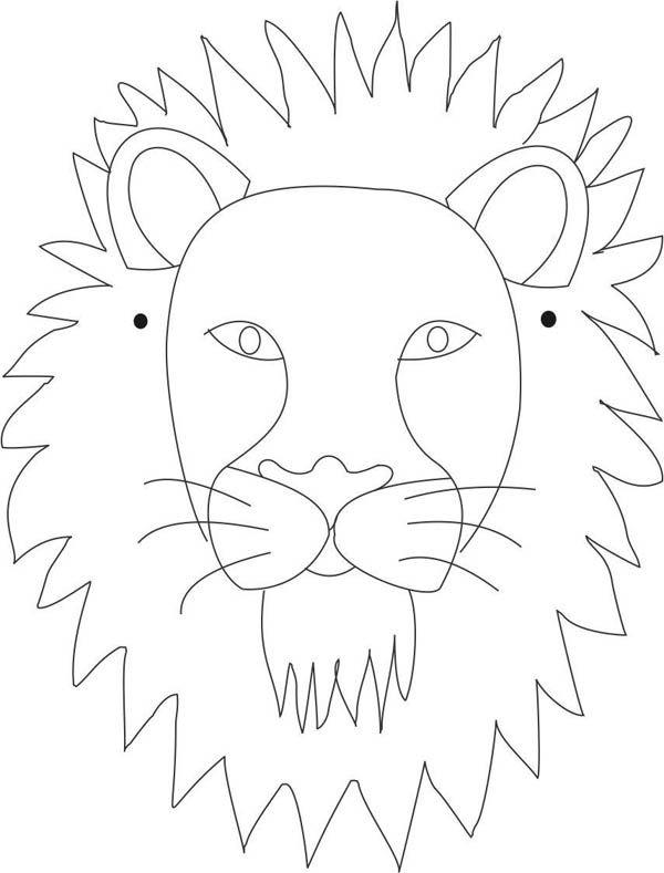 Mask Lion Mask Coloring Page Lion Mask Coloring Pagefull Size