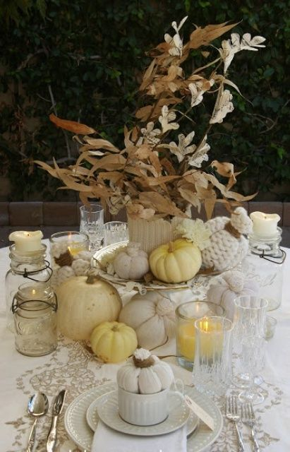 Vintage and shabby chic thanksgiving décor ideas