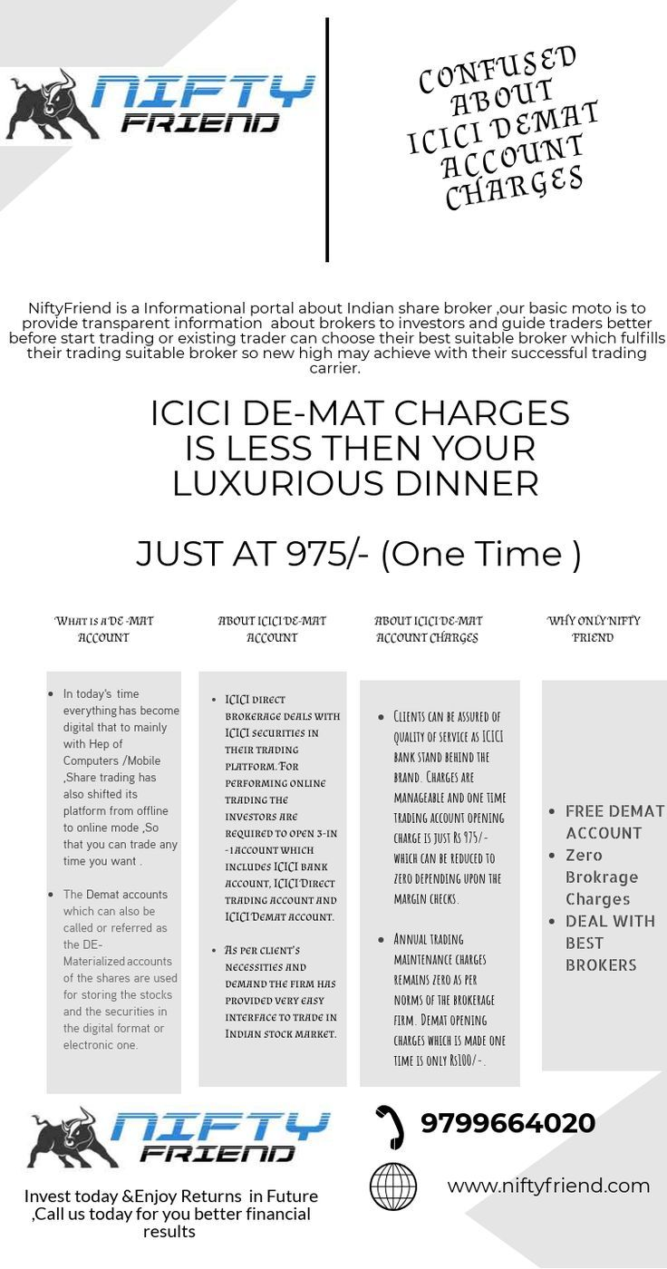 Account Charges Confused Demat Icici Confused About Icici Demat Account Charges Icici De Mat Charges Is Less Th Stock Broker Accounting Brokerage Firm