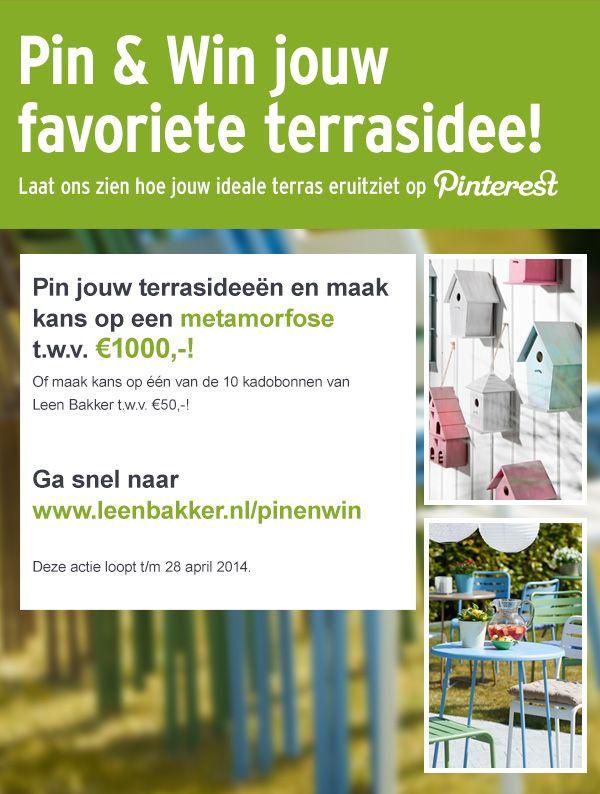 Pin jouw terrasideeën en maak kans op een metamorfose t.w.v. €1000,-!