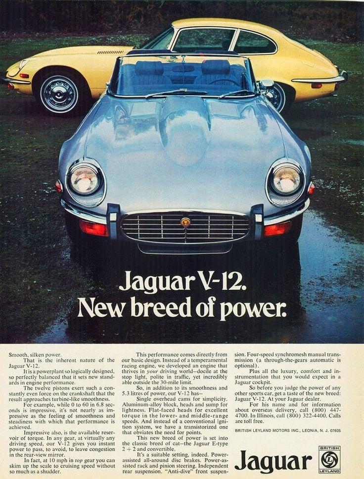 1973 Car Advertisements   1962 jaguar xk e ad 1986 jaguar xjs coupe ad