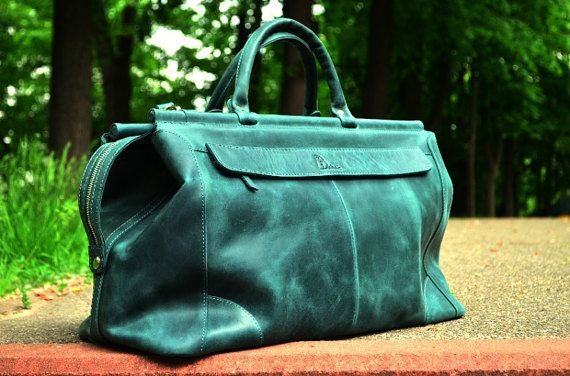 Leather Duffle Bag  Leather Weekender Bag  Leather от Babak1995