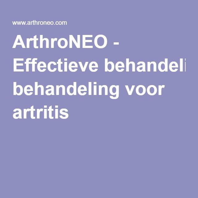 ArthroNEO - Effectieve behandeling voor artritis