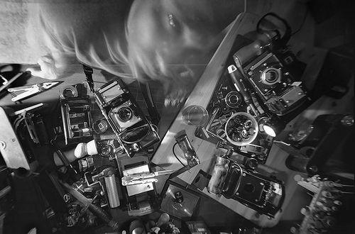 https://flic.kr/p/3ERpLB | Self, Workshop. L.A. 2004 | 6X11cm custom made camera/ 6x9cm back, Agfa film, about 1 min. exposure time, D - 76 1:3 www.twelvecameras.com
