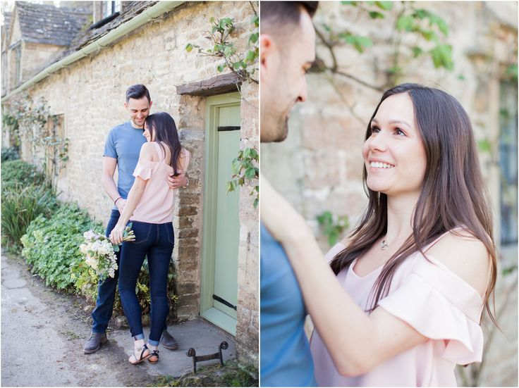 Bibury Cotswolds engagement photoshoot, light and airy fine art photography, Bowtie and Belle Photography