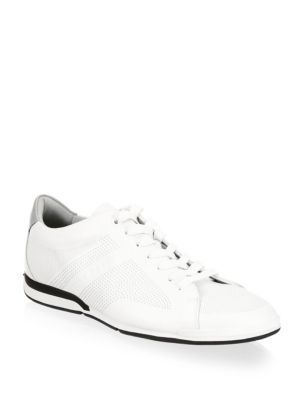 e53a30fe9c HUGO BOSS Saturn Leather Low Sneakers. #hugoboss #shoes # | Sneakers ...