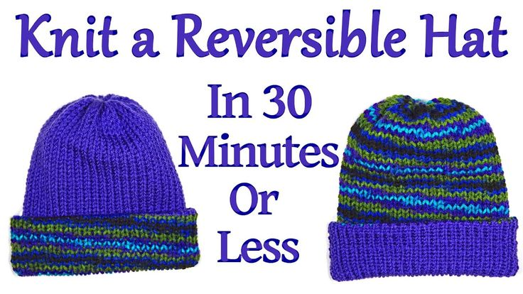 Knit a Reversible Hat on your Addi King Knitting Machine in 30 Minutes or Less / Yay For Yarn - YouTube