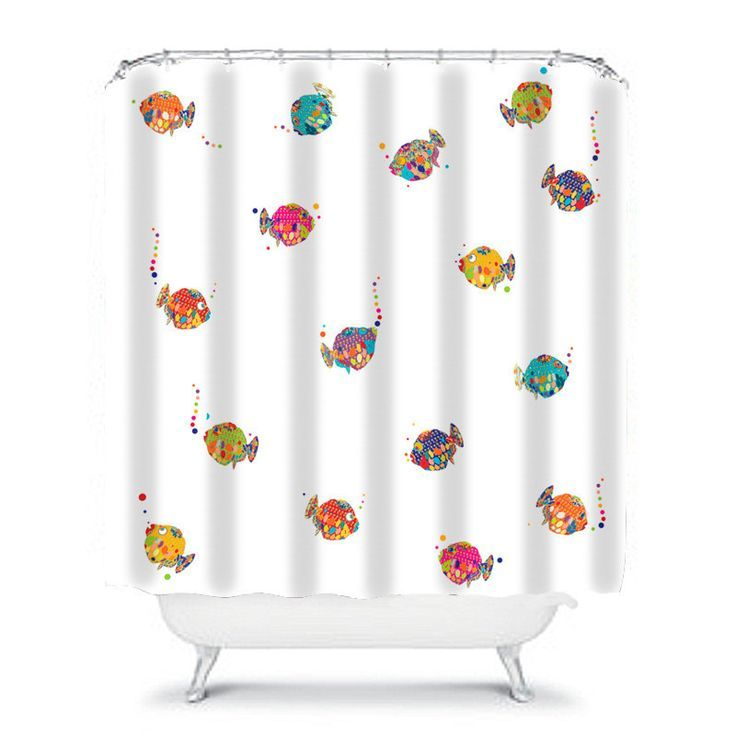 Kids Shower Curtain Fish Shower Curtain Kids Bathroom Decor