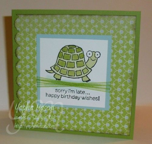 108 best stampin up turtle cards images on pinterest turtles there is an adorable square card sketch over at pals paper arts this week my mom asked me last night if i had any cards for a belated birthday bookmarktalkfo Images