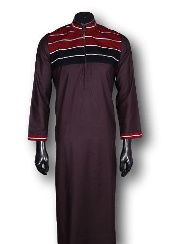 Kufnees Design 4081 Colour Dark Brown With Maroon