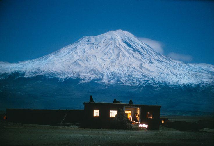 Ara Guler TURKEY. Eastern Anatolia. 1988. Volcanic cone Mount Ararat (also known as Agri Dagi), highest mountain in Turkey at 5137m.