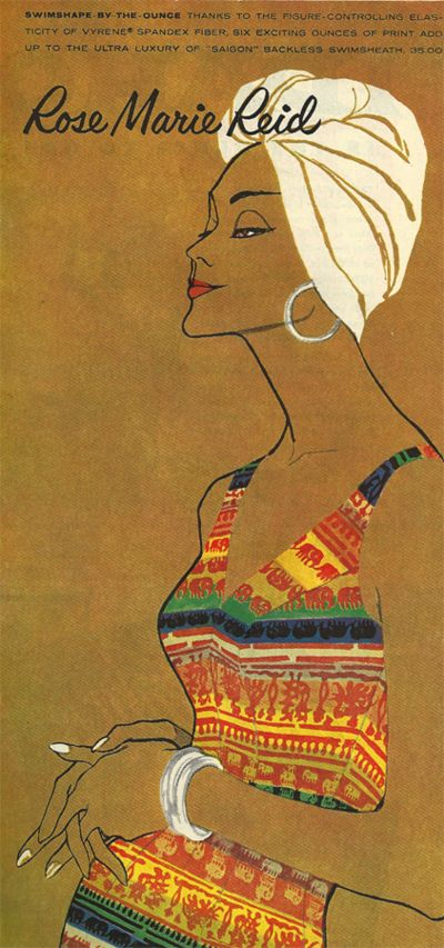 Vintage swimsuit ads - Rose Marie Reid
