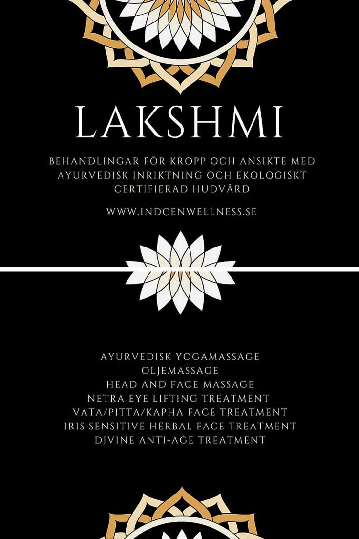 Indcen Wellness erbjuder behandlingar för kropp och ansikte med Ayurvedisk inriktning och ekologiskt certifierad hudvård från Lakshmi.