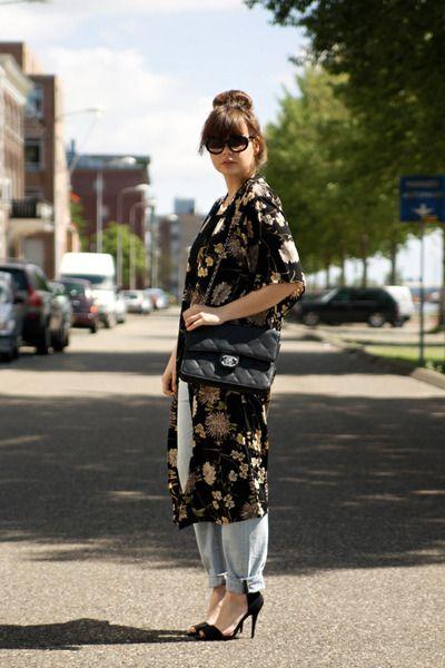 .: Style Inspiration, Street Style, Style Fashion Shoes, Street Styles, Killer Kimonos, Streety Style, Kimonostriped Jacket