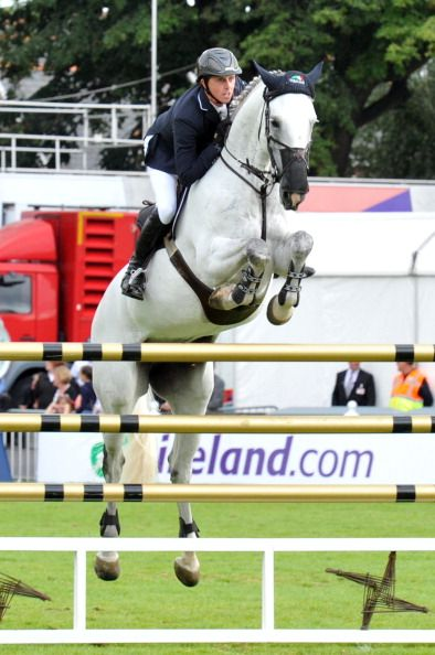 News Photo : Ben Maher and Celia of Great Britain competes in...