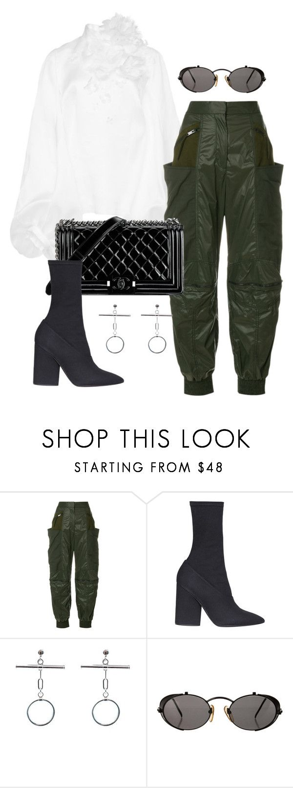 """Untitled #1914"" by emmastrouse ❤ liked on Polyvore featuring STELLA McCARTNEY, Chanel, Yeezy by Kanye West and Jean-Paul Gaultier"