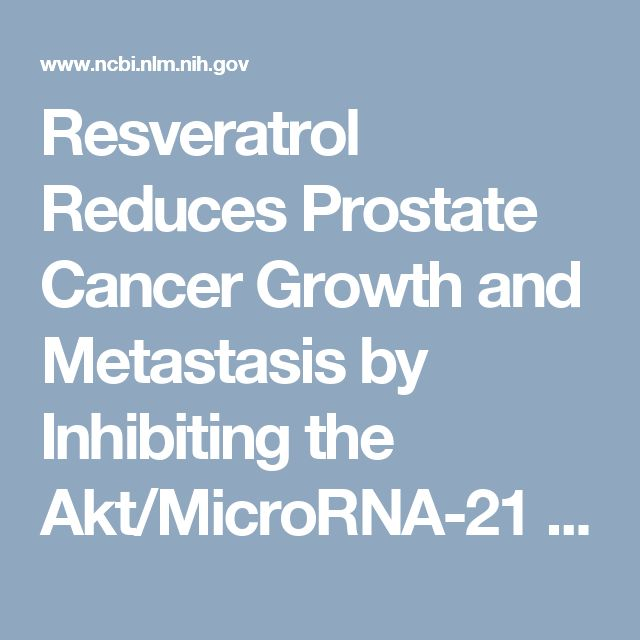 Resveratrol Reduces Prostate Cancer Growth and Metastasis by Inhibiting the Akt/MicroRNA-21 Pathway