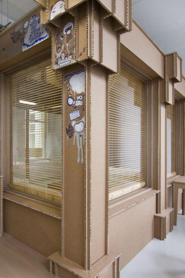 kantoor van karton