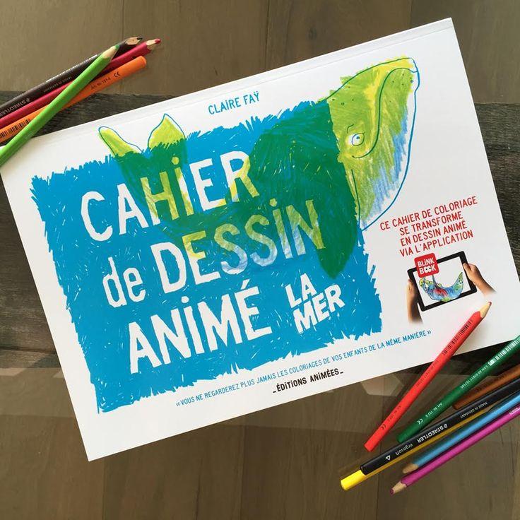 Le Cahier de Dessin Animé - La Mer : disponible sur le site des Editions Animées. #CahierAnimé #creativetech
