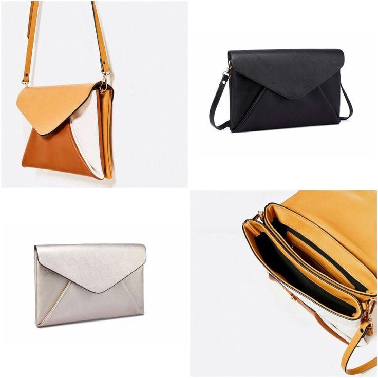 Clutch Zara Tricolor Ori 6901 30x19 +Free Paper Bag 230rb