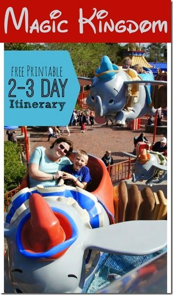 Magic Kingdom tips for families doing their Disney World Planning! Includes includes information about Magic Kingdom Rides and a free printable 2-3 day Magic Kingdom Itinerary to make planning easy!