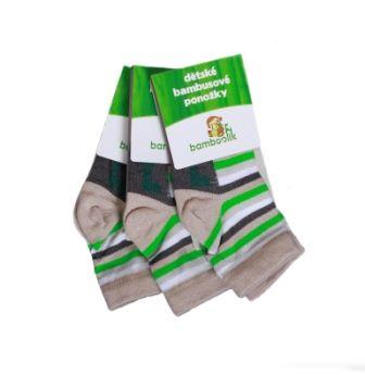 Dětské ponožky v jemných neutrálních barvách pro pohodlí nožiček kluků i holčiček.  Bambus je až 4x savější než bavlna, měkoučký a příjemný na dotek