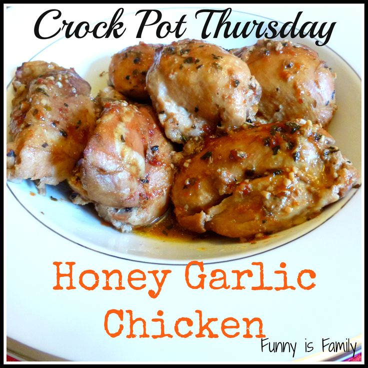 This Crock Pot Honey Garlic Chicken is one of our family's favorites. Crazy easy, and full of flavor!