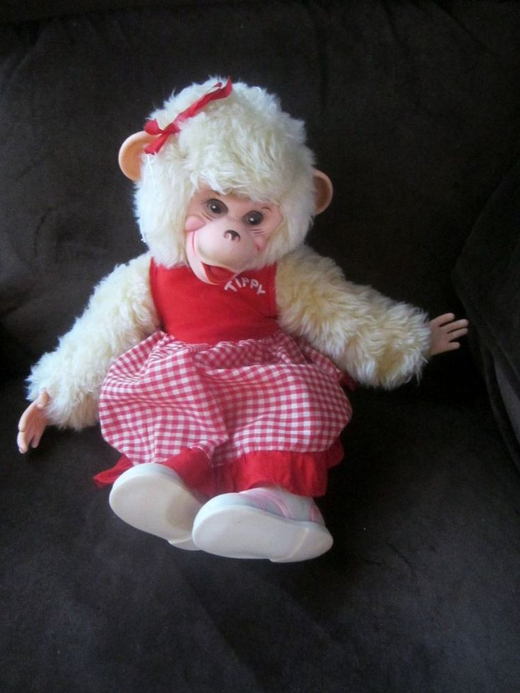 The Rushton Company rubber face monkey named Tippy I had this as a child and still to this day my favorite