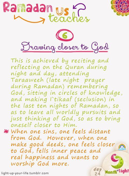 Month Of Light Ramadan teaches us! Lesson 6
