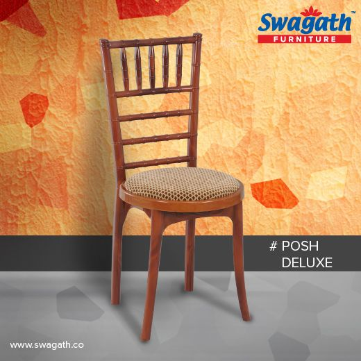 Armless Posh Deluxe #chairs are moulded in virgin polypropylene with an attractive bamboo design backrest and different cushion color options. Visit us at www.swagath.co for more information!!