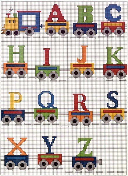 Artesanatos by Zenia: Alfabeto com trem para os pequeninos