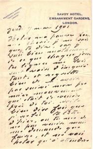 Fantastique lettre autographe de Claude Monet