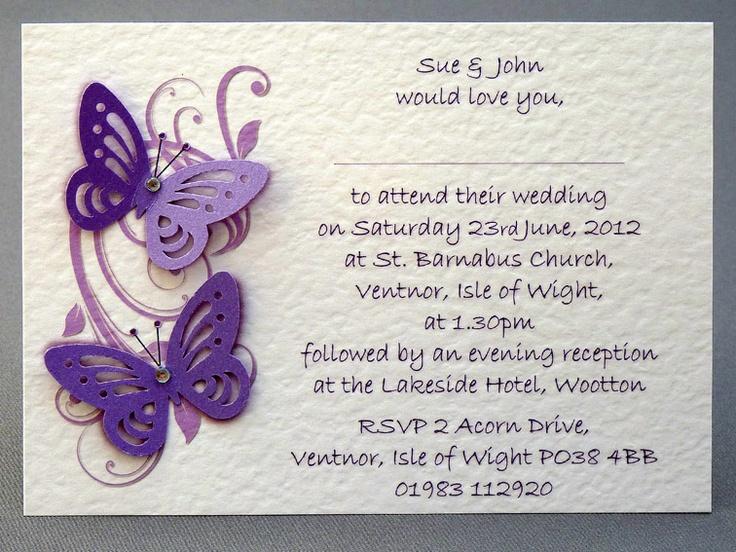 35 best Wedding Stationary images on Pinterest Butterfly wedding - best of wedding invitation card ideas pinterest
