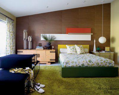 1960s retro interior design    OH MAN I LOVE A GREEN RUG