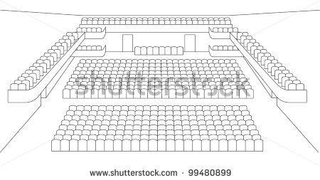 interior of theater hall plan vector by shooarts, via Shutterstock
