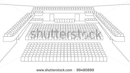 interior of theater hall plan vector by shooarts, via Shutterstock
