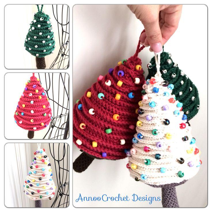 Xmas Tree ornaments Free Tutorial Bu AnnooCrochet Designs