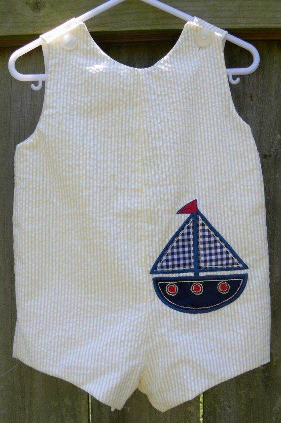 Little Sailor Boys Romper 3mon4T 'Summer' by bittyboutique on Etsy, $32.99