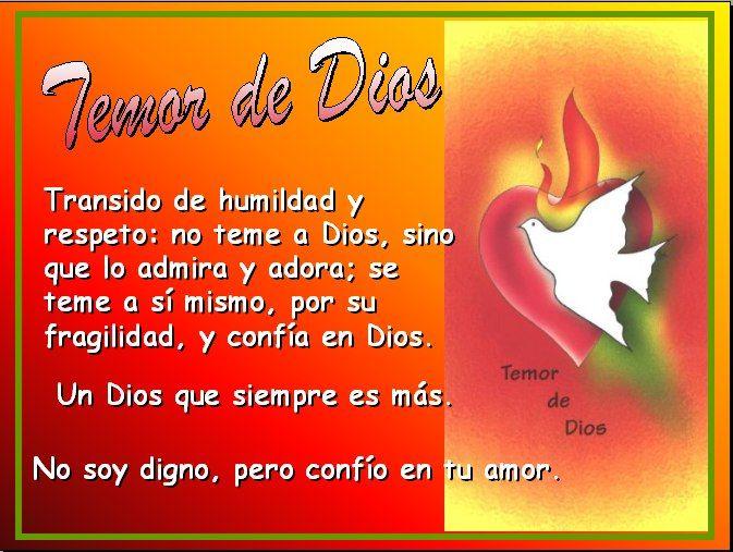 Dones del Espíritu Santo: 7º Temor de Dios, por Ángel ...