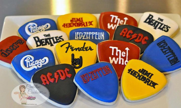 Rock Band Guitar Picks | Cookie Connection