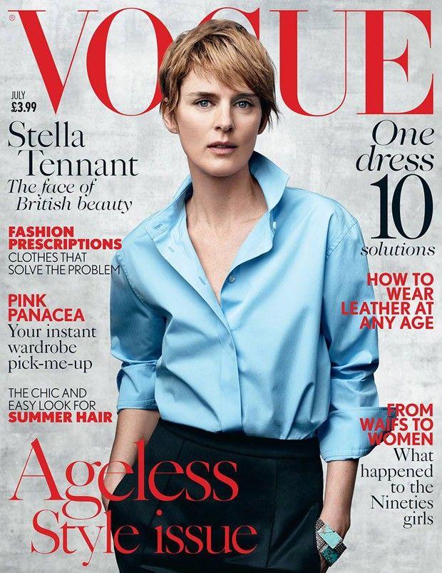 Stella Tennant Covers Vogue UK July 2015