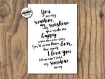 You are my sunshine 3 - Print