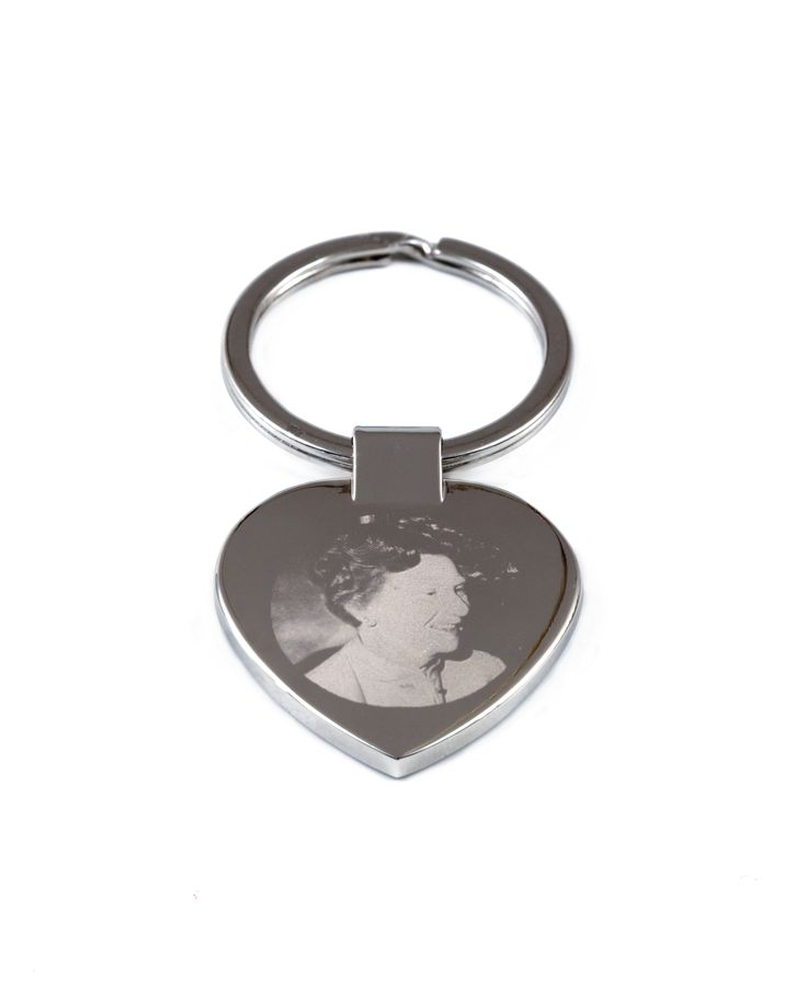My most popular piece. Have your loved ones photo engraved onto this heart shaped keyring. Priced at $45 plus postage.  #memorials.  #petmemorials. #keepsakes. #photoengraving #funerals