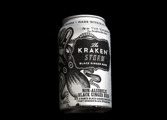 Kraken Storm is the spiciest, blackest, and fiercest ginger beer known to man or beast. A carbonated, non-alcoholic black ginger beer, Kraken Storm is high in spice and heat with notes of cinnamon, nutmeg, vanilla, and ginger. Kraken Storm is delicious on its own, over ice, mixed with Kraken Rum, or as an ingredient in cocktails. An essential ingredient for the world's best drink: The Perfect Storm. Made with real black strap molasses—extra strap!  Only ships within the United States.
