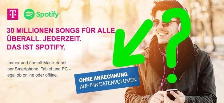 Telekom drosselt Spotify Premium ab 28.04.2016 - https://apfeleimer.de/2016/03/telekom-drosselt-spotify-premium-ab-28-04-2016?utm_source=PN&utm_medium=PINIT&utm_campaign=Telekom+drosselt+Spotify+Premium+ab+28.04.2016 - Netzneutralität, Telekom und Spotify: Wer Spotify Premium über die Deutsche Telekom bucht, der freut sich über unbegrenztes Musik-Streaming über das mobile Internet ohne Anrechnung auf das Datenvolumen des Telekom Tarifs. In Kürze wird die Musik-Flat über