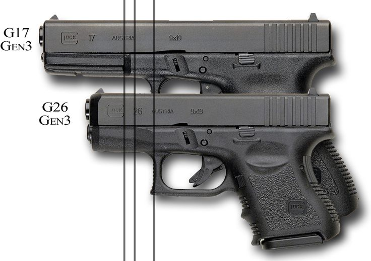 Glock 26 and Glock 17 Comparison: Why they do not fit the ...