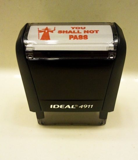 """Grade papers with the """"YOU SHALL NOT PASS"""" Gandolf stamp!Geek, Student, Stuff, Grade Paper, Stamps, So Funny, Teachers, Gandalf, High Schools"""