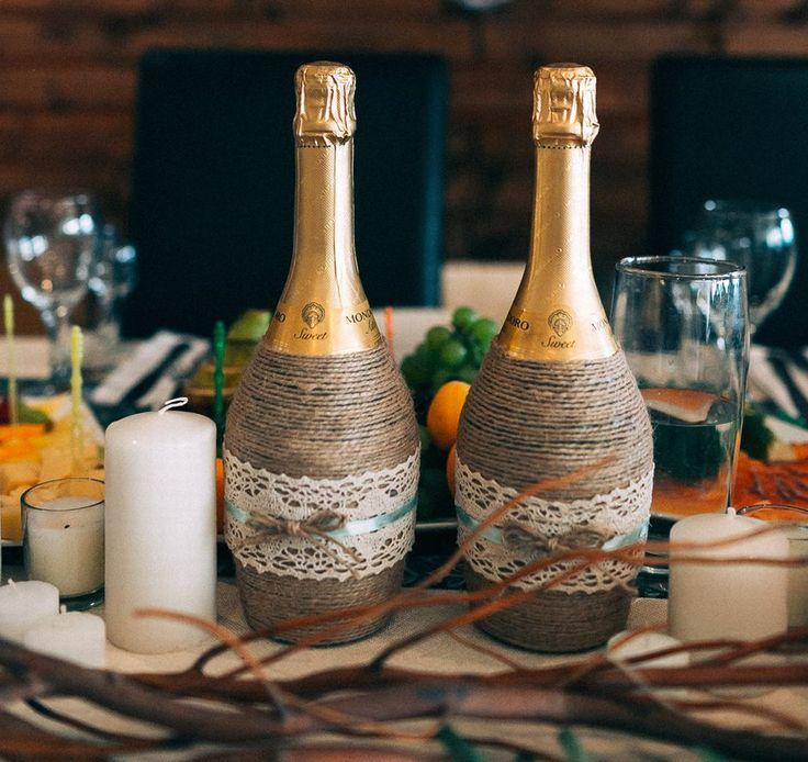 Свадебные бутылки и бокалы, наборы