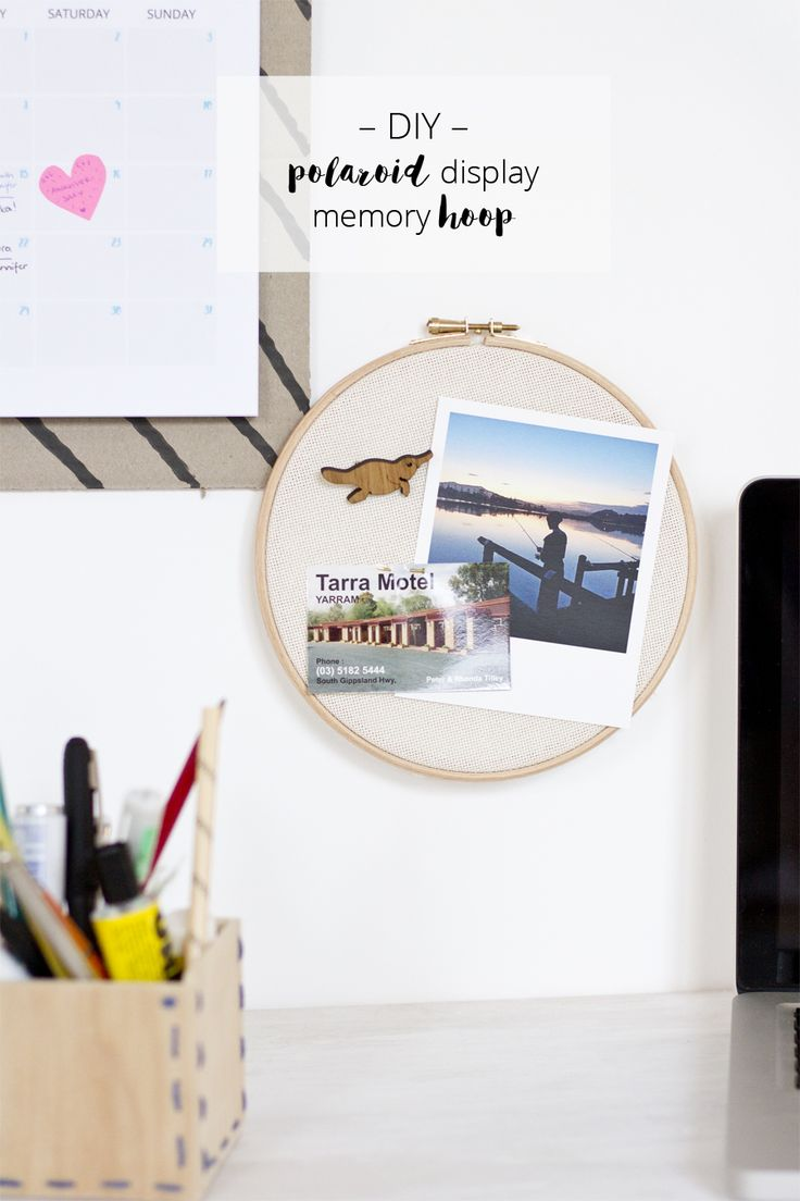 DIY Polaroid display memory embroidery loop   LOOK WHAT I MADE ...