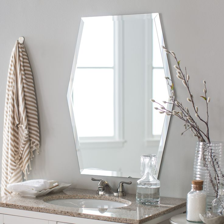 17 Best Ideas About Modern Bathroom Mirrors On Pinterest